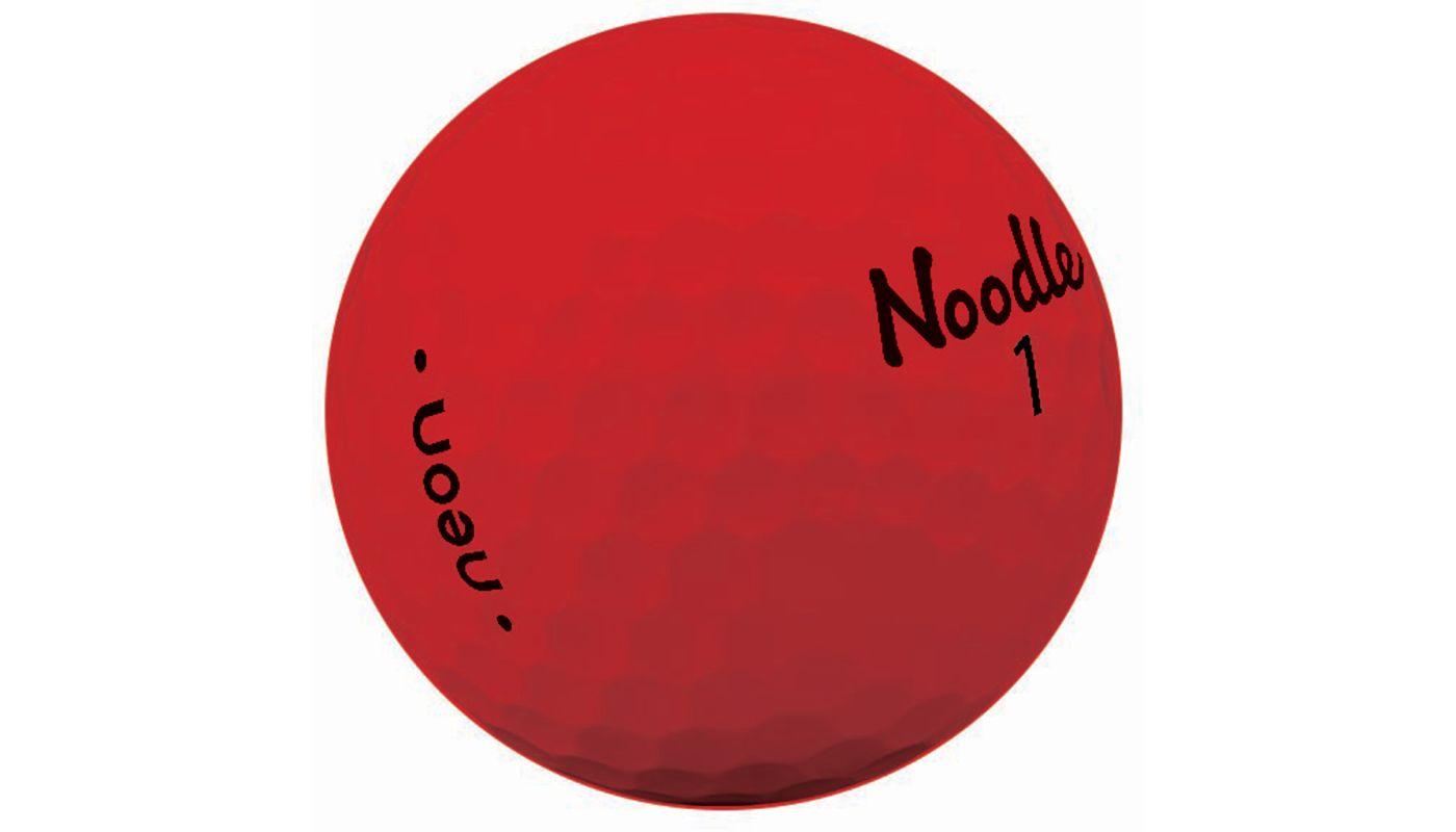 Noodle 2018 Neon Golf Balls – Matte Red