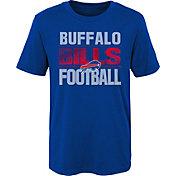 NFL Team Apparel Boys' Buffalo Bills Light Streaks Royal T-Shirt