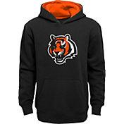 NFL Team Apparel Boys' Cincinnati Bengals Prime Black Pullover Hoodie