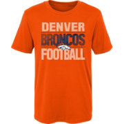 NFL Team Apparel Boys' Denver Broncos Light Streaks Orange T-Shirt