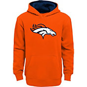 NFL Team Apparel Boys' Denver Broncos Prime Orange Pullover Hoodie