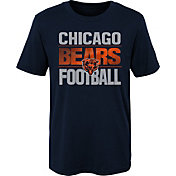 NFL Team Apparel Boys' Chicago Bears Light Streaks Navy T-Shirt