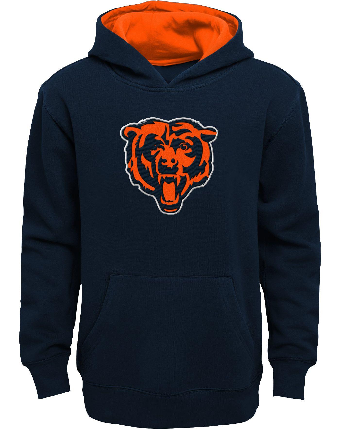 NFL Team Apparel Boys' Chicago Bears Prime Navy Pullover Hoodie