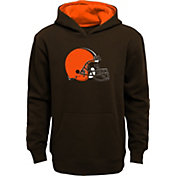 NFL Team Apparel Boys' Cleveland Browns Prime Brown Pullover Hoodie