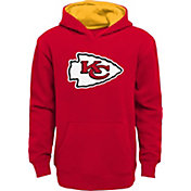 NFL Team Apparel Boys' Kansas City Chiefs Prime Red Pullover Hoodie
