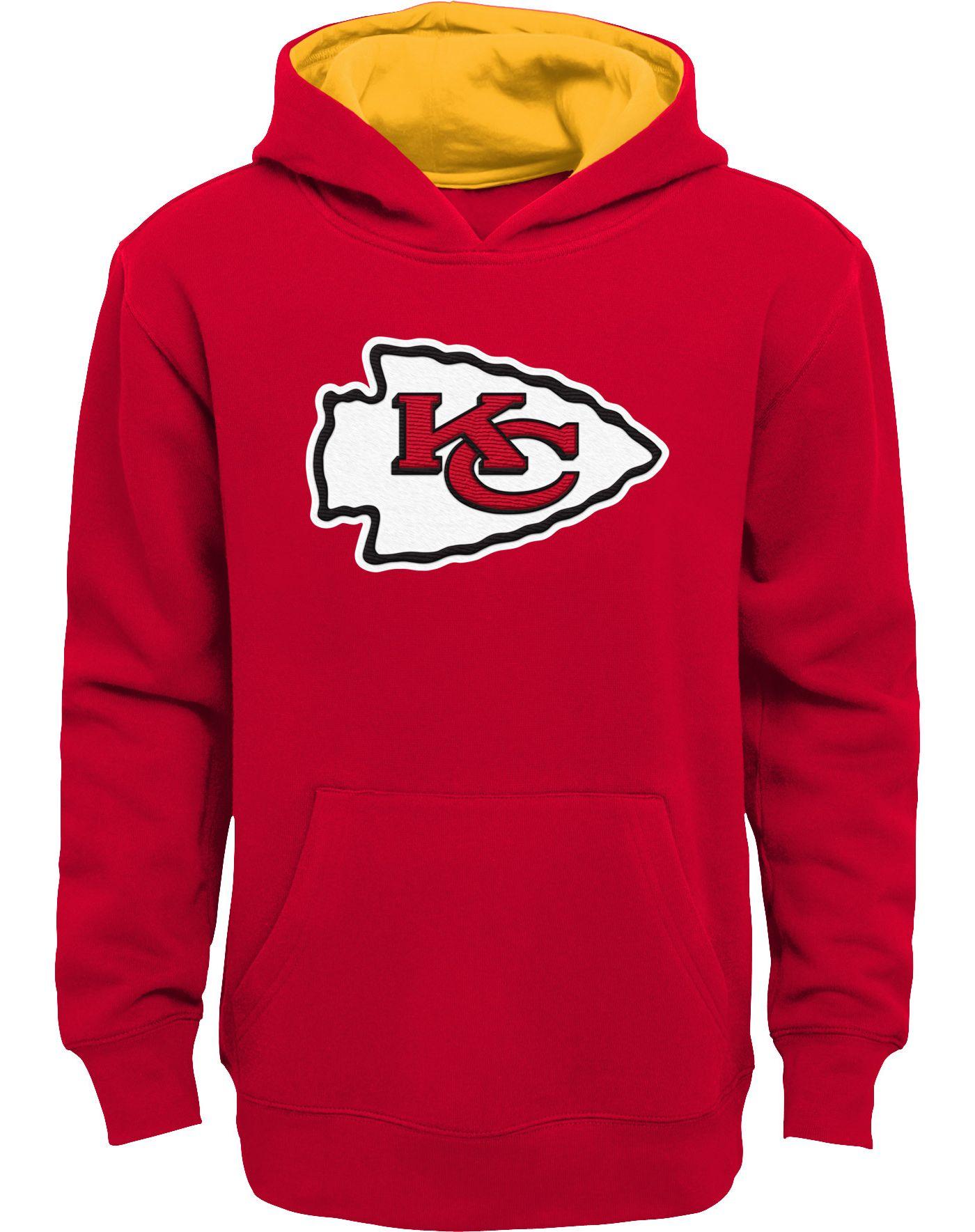 NFL Team Apparel Boys' Kansas City Chiefs Prime Red Pullover Hoodie