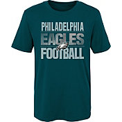 NFL Team Apparel Boys' Philadelphia Eagles Light Streaks Teal T-Shirt