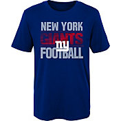 NFL Team Apparel Boys' New York Giants Light Streaks Royal T-Shirt