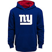 NFL Team Apparel Boys' New York Giants Prime Royal Pullover Hoodie