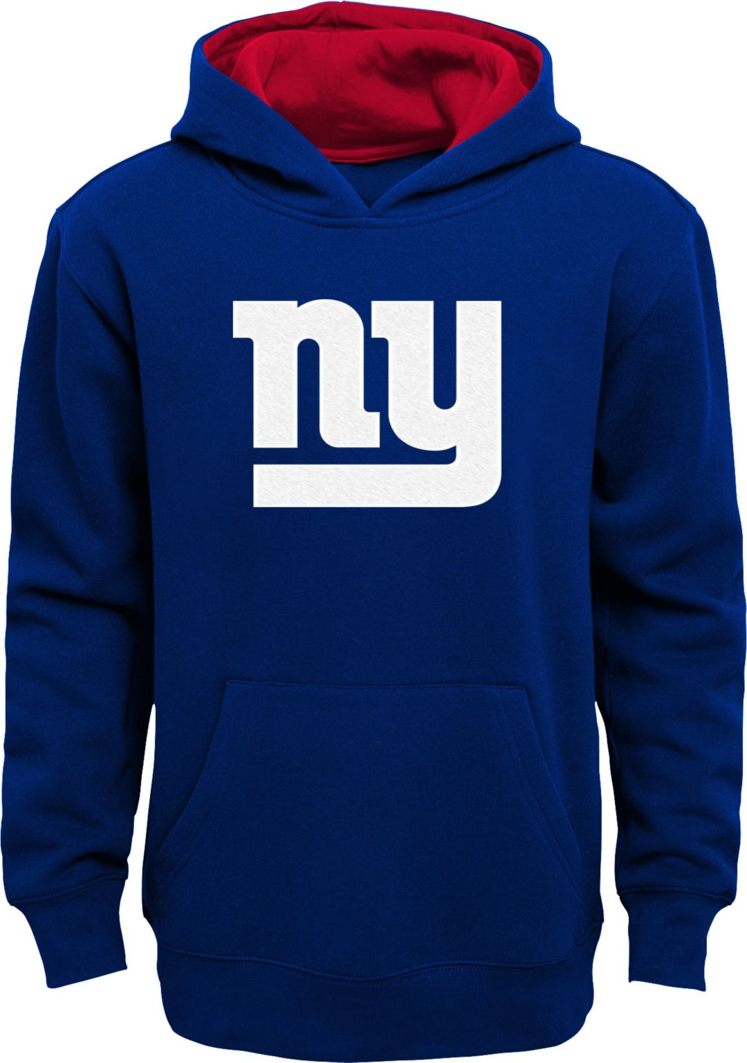 new product 32728 4d0cf NFL Team Apparel Boys' New York Giants Prime Royal Pullover Hoodie