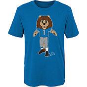 NFL Team Apparel Boys' Detroit Lions Mascot Blue T-Shirt