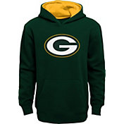 NFL Team Apparel Boys' Green Bay Packers Prime Green Pullover Hoodie