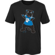 NFL Team Apparel Boys' Carolina Panthers Mascot Black T-Shirt