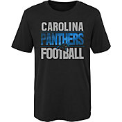 NFL Team Apparel Boys' Carolina Panthers Light Streaks Black T-Shirt