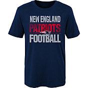NFL Team Apparel Boys' New England Patriots Light Streaks Navy T-Shirt