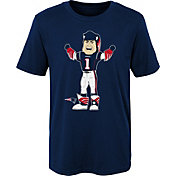 NFL Team Apparel Boys' New England Patriots Mascot Navy T-Shirt