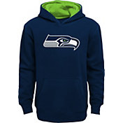 NFL Team Apparel Boys' Seattle Seahawks Prime Navy Pullover Hoodie