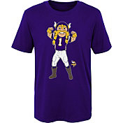 NFL Team Apparel Boys' Minnesota Vikings Mascot Purple T-Shirt