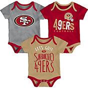 NFL Team Apparel Infant San Francisco 49ers Tailgater 3-Piece Onesie Set