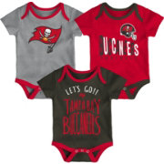 NFL Team Apparel Infant Tampa Bay Buccaneers Tailgater 3-Piece Onesie Set