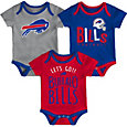 NFL Team Apparel Infant Buffalo Bills Tailgater 3-Piece Onesie Set