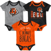 NFL Team Apparel Infant Cincinnati Bengals Tailgater 3-Piece Onesie Set
