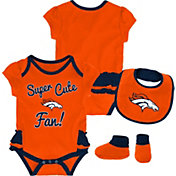 64c82fa7f Product Image · NFL Team Apparel Infant Girls  Denver Broncos Trifecta  Onesie Set