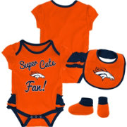 NFL Team Apparel Infant Girls' Denver Broncos Trifecta Onesie Set