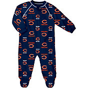 NFL Team Apparel Infant Chicago Bears Zip-Up Navy Coverall
