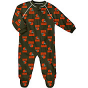 NFL Team Apparel Infant Cleveland Browns Zip-Up Brown Coverall