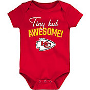 NFL Team Apparel Infant Kansas City Chiefs Awesome Red Onesie