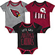 NFL Team Apparel Infant Arizona Cardinals Tailgater 3-Piece Onesie Set