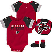 NFL Team Apparel Infant Atlanta Falcons 50-Yard Onesie Set