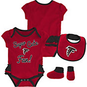 NFL Team Apparel Infant Girls' Atlanta Falcons Trifecta Onesie Set