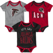 NFL Team Apparel Infant Atlanta Falcons Tailgater 3-Piece Onesie Set