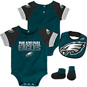 NFL Team Apparel Infant Philadelphia Eagles 50-Yard Onesie Set