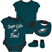 NFL Team Apparel Infant Girls' Philadelphia Eagles Trifecta Onesie Set