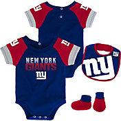 NFL Team Apparel Infant New York Giants 50-Yard Onesie Set