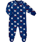 NFL Team Apparel Infant New York Giants Zip-Up Royal Coverall