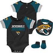NFL Team Apparel Infant Jacksonville Jaguars 50-Yard Onesie Set
