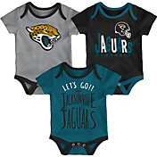NFL Team Apparel Infant Jacksonville Jaguars Tailgater 3-Piece Onesie Set