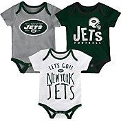 NFL Team Apparel Infant New York Jets Tailgater 3-Piece Onesie Set