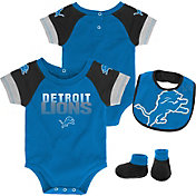NFL Team Apparel Infant Detroit Lions 50-Yard Onesie Set