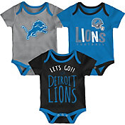 NFL Team Apparel Infant Detroit Lions Tailgater 3-Piece Onesie Set