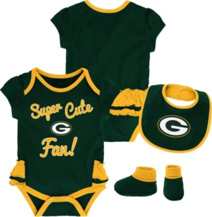 NFL Team Apparel Infant Girls  Green Bay Packers Trifecta Onesie Set.  noImageFound c1a6417d7