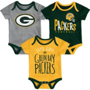 NFL Team Apparel Infant Green Bay Packers Tailgater 3-Piece Onesie Set
