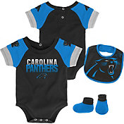 NFL Team Apparel Infant Carolina Panthers 50-Yard Onesie Set