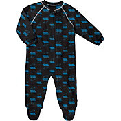 NFL Team Apparel Infant Carolina Panthers Zip-Up Black Coverall