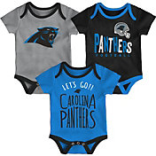 NFL Team Apparel Infant Carolina Panthers Tailgater 3-Piece Onesie Set