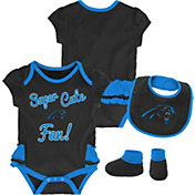 NFL Team Apparel Infant Girls' Carolina Panthers Trifecta Onesie Set